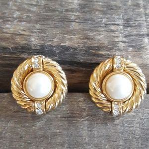 Authentic Vintage Givenchy Pearl Clip-On Earrings